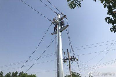阳信供电公司开展线路检修施工