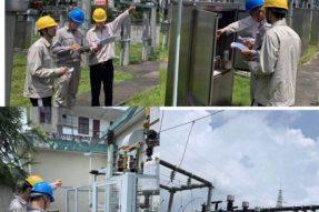 35kV金石桥变设备开展十八项反措排查工作、10kV开关柜开展带电局放检测工作