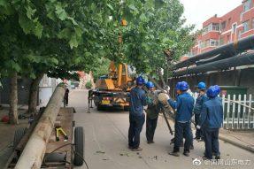 齐河县某小区电力改造现场