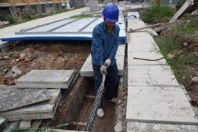 枣庄供电公司头顶烈日加快敷设电缆4200米