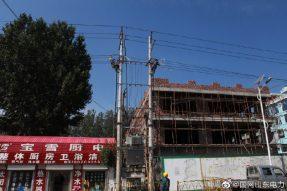 兰陵县供电公司对10千伏金桥线进行拆除迁改