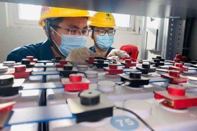 35kV灞水变电站蓄电池检测维护工作