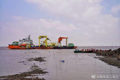 浙江舟山至鱼山岛第三回路海底电缆开始敷设