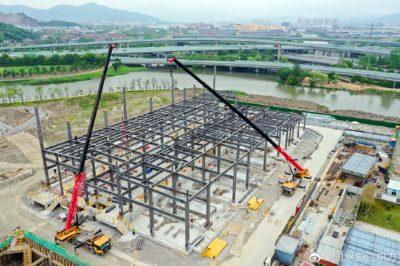 """600根钢条""""拼接""""宁波首座钢结构220千伏变电站"""