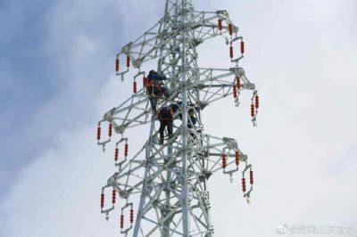 在35千伏马连庄线开展铁塔综合改造任务