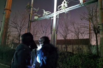 对辖区内的线路、设备进行夜间高负荷时段红外测温工作