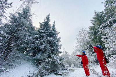 从容应对冰雪季 踏雪巡检保供电
